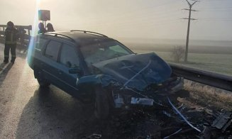 Accident pe Autostrada A3. Impact frontal pe contrasens