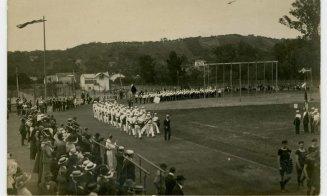 Defilare pe Stadionului Orașului, anul 1913